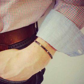 Bracelet homme code morse<br />