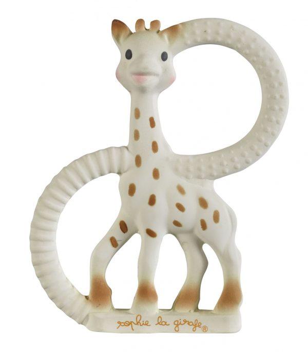 Anneau de dentition souple sophie la girafe sur fond blanc pour le petit je ne sais quoi