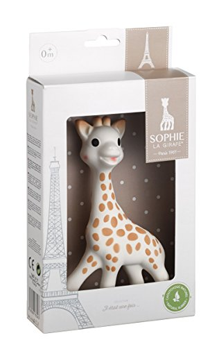 Emballage de sophie la girafe avec la tour eiffel pour le petit je ne sais quoi