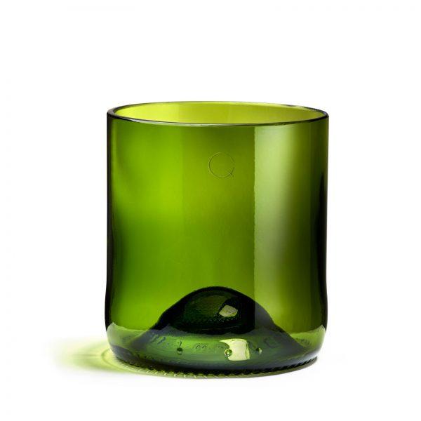 Verre de la marque q de bouteille de couleur verte pour le petit je ne sais quoi