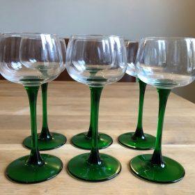 Lot de 6 verres à vin d'Alsace