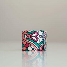 Bracelet manchette en twill de soie - Collection Rosée<br /> (plusieurs motifs)
