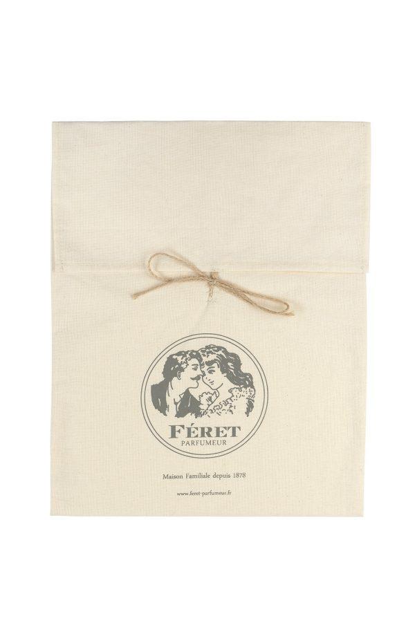 Pochette cadeaux en lin de la marque Féret Parfumeur pour le petit je ne sais quoi