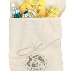 Pochette cadeau en tissu naturel